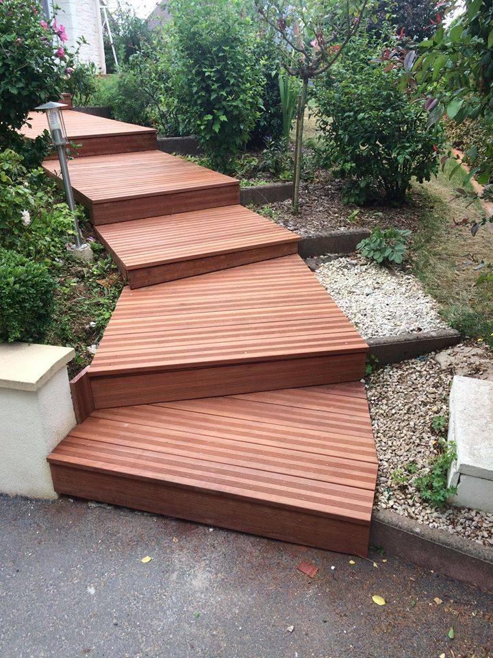 Fabrication D Escalier Sur Mesure Et Terrasse En Bois